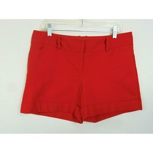 Limited Shorts Drew Fit Red Flat Front Pockets